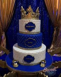 royal blue and gold baby shower baby shower crown cake topper baby shower invitation