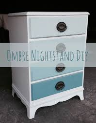 painting ombre blue lagoon nightstand diy hilary l hahn