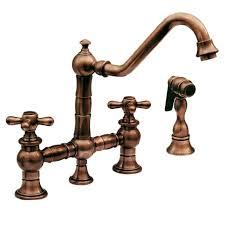 kohler bronze kitchen faucets whitehaus whkbtcr3 9201 aco antique copper handle bridge