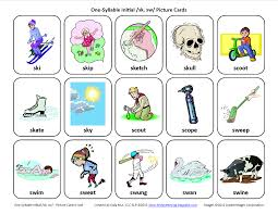 Syllable Worksheets Testy Yet Trying S Blends Sk Sw Free Speech Therapy
