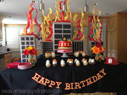 Firefighter Home Decorations Firefighter Luke Turns 3 Firefighter Birthday Parties