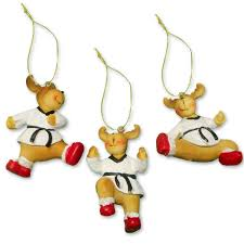 taekwondo reindeer ornament set martial ornaments