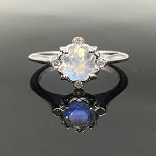 moonstone engagement rings moonstone engagement ring solid 14k white gold