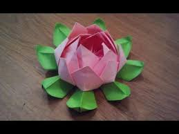 Lotus Blossom Origami - how to make an origami lotus flower