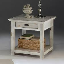 round distressed end table great attractive distressed end table pertaining to house remodel