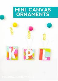 mini canvas kids christmas ornaments diycandy com