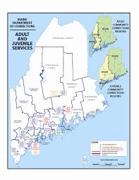 State Of Maine Map by Facilities