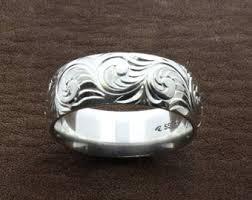 Western Wedding Rings by Western Wedding Rings Engraved Western Ring Custom Engraved