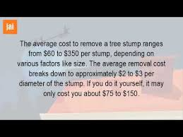 how much does it cost to remove a tree stump