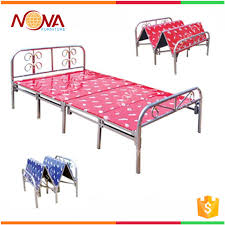 Folding Cot Bed Space Saving Cheap Used Modern Steel Metal Single Folding