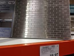 Steel Tile Backsplash by Tile Backsplash For Kitchen Stainless Steel