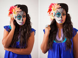 half face halloween makeup ideas how to paint a sugar skull u2026 on your face sugar skull makeup