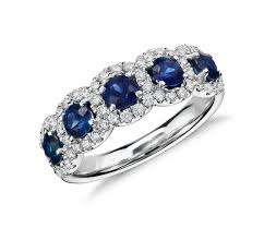 diamonds sapphire rings images Sapphire and diamond halo ring in 18k white gold blue nile