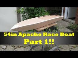54in rc apache race boat build part 1 youtube