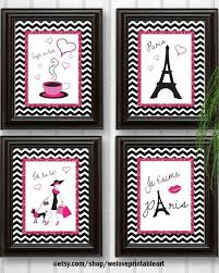 Paris Decor Paris Decor Diy You Print Yourself These Pink Glitter And