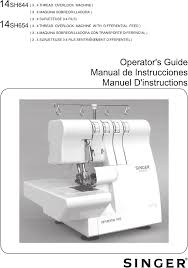singer serger 14sh654 finishing touch pdf instruction manual