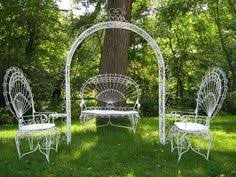 Ironpeacock Chairs Petite Wrought Iron Outdoor Rocking Chair - Outdoor iron furniture