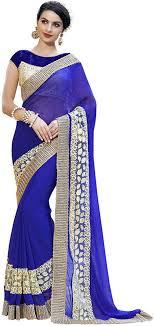saree blouse anushree sarees fancy georgette saree with blouse anushree