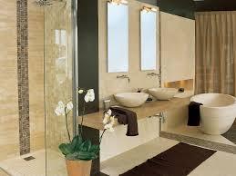 Natural Stone Bathroom Ideas Bathroom White Sink Vanities Dark Brown Wood Vanity White