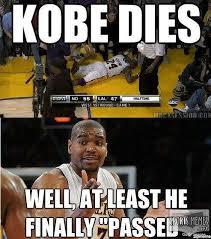 Kobe Bryant Memes - kobe bryant dies meme