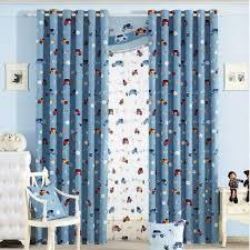 Custom Blue Cartoon Car Boys Room Nursery Curtains