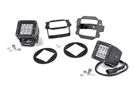 Fog Lights 2 Inch Square Cree Led Fog Light Kit For 07 09 Jeep Jk Wrangler