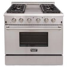 Sealed Burner Gas Cooktop Kucht Pro Style 36 In 5 2 Cu Ft Propane Gas Range With Sealed