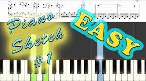 piano sketch 1 origin piano tutorial youtube