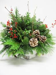 christmas arrangements assorted greenery arrangements baskets