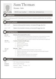 Free Templates For Resumes Sle Free Resume Templates 13 Free Documents In Word