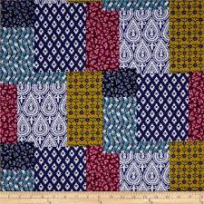 michael miller indian summer patch ouli jewel discount designer