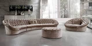 Sectional Sofas Miami Soflex Miami Luxurious Modern Beige Fabric Crystals Tufted