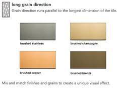 Aspect Peel And Stick Backsplash by Aspect Backsplash 3x6 Brushed Champagne Short Grain Metal Tile