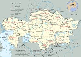 Kyrgyzstan Map Map Of Kazakhstan Astana Asia