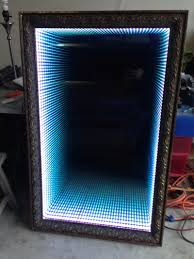 Mirror Film For Walls How To Make An Infinity Led Mirror Led Mirror Infinity And