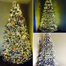 Snow Flocking For Christmas Trees by Snow Artificial Christmas Tree Deluxe With Strong Warm Led Lights