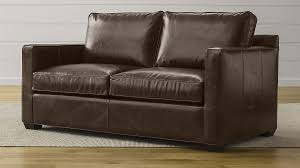 leather full sleeper sofa davis leather full sleeper sofa reviews crate and barrel