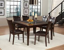 fancy wooden dining table design with square clear glass top