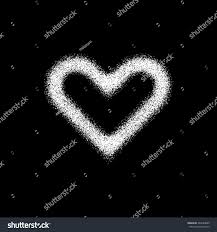 white abstract heart sign badge valentines stock vector 364624880