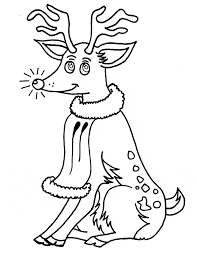 colouring pages reindeer rudolph red nosed christmas reindeer