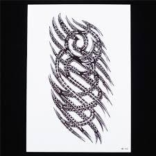 1 pc temporary tattoo women men body art skull scratch edge link