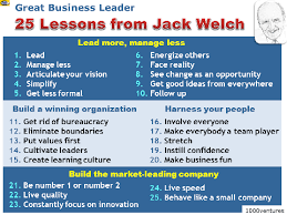 25 lessons from jack welch business leadership and new