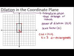 dilation in the coordinate plane lesson geometry concepts youtube