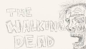 the walking dead sketch by cecilulalalu on deviantart