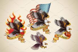 philippines eagle tattoo old tattoo of an eagle 4x illustrations creative market