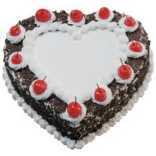 online birthday cake 1 2 kg heart shape black forest cake online flowers and bouquet