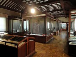 file interior view treasure hall itsukushima shinto shrine