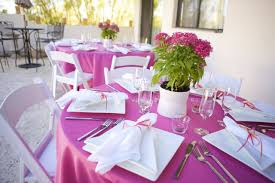 wonderful pink and white wedding table decoration using folding