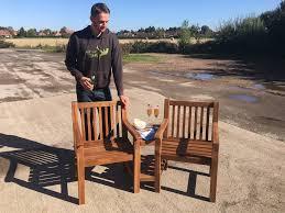 Tete A Tete Garden Furniture by Chunky Hardwood Love Seat U0027tete A Tete U0027 Sale Simply Wood