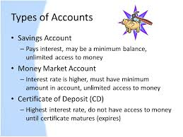 savings accounts section ppt